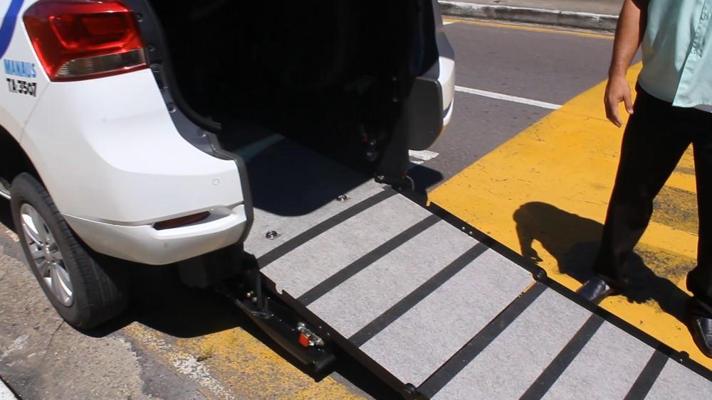 Rampa de acesso para o cadeirante