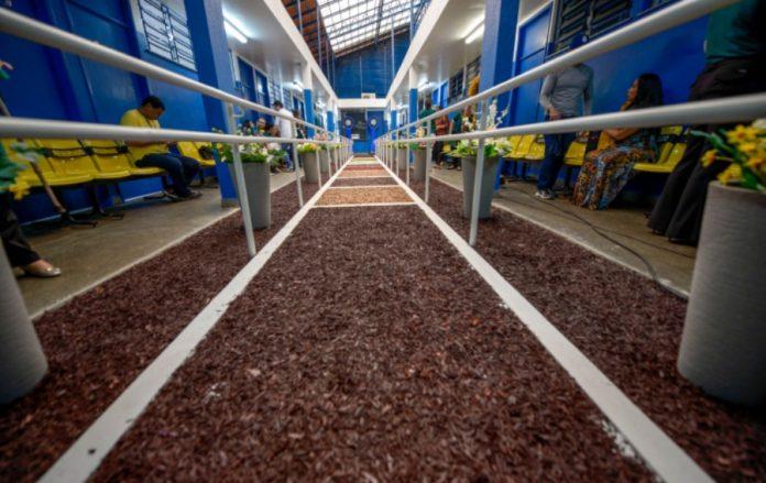 Foto da pista com 9 tipos diferentes de piso