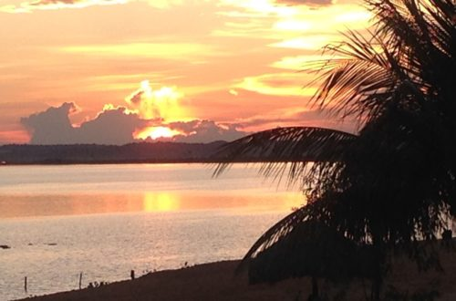 Pôr do sol do Rio Tocantins em Palmas/TO