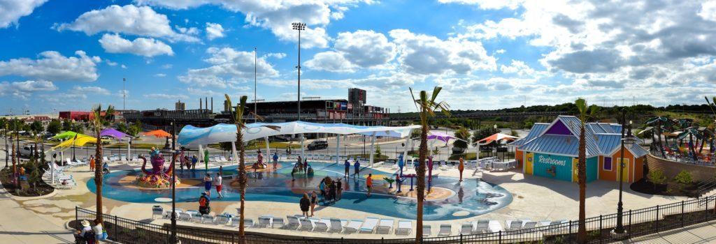 foto panoramica do parque aquatico