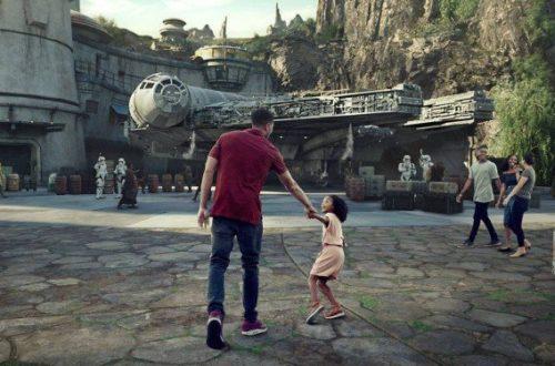 Simulação mostra como será o brinquedo Millennium Falcon: Smugglers Run, da futura área Star Wars: Galaxy's Edge, nos parques da Disney Foto: Disney Parks