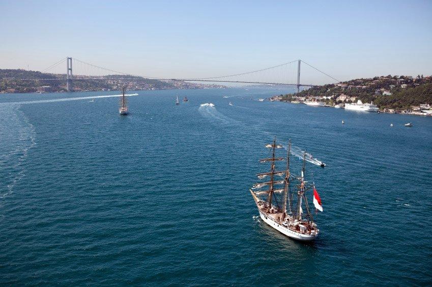 barcos no Bósforo