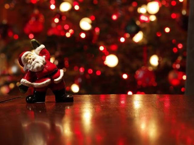 Boneco do Papai Noel iluminado