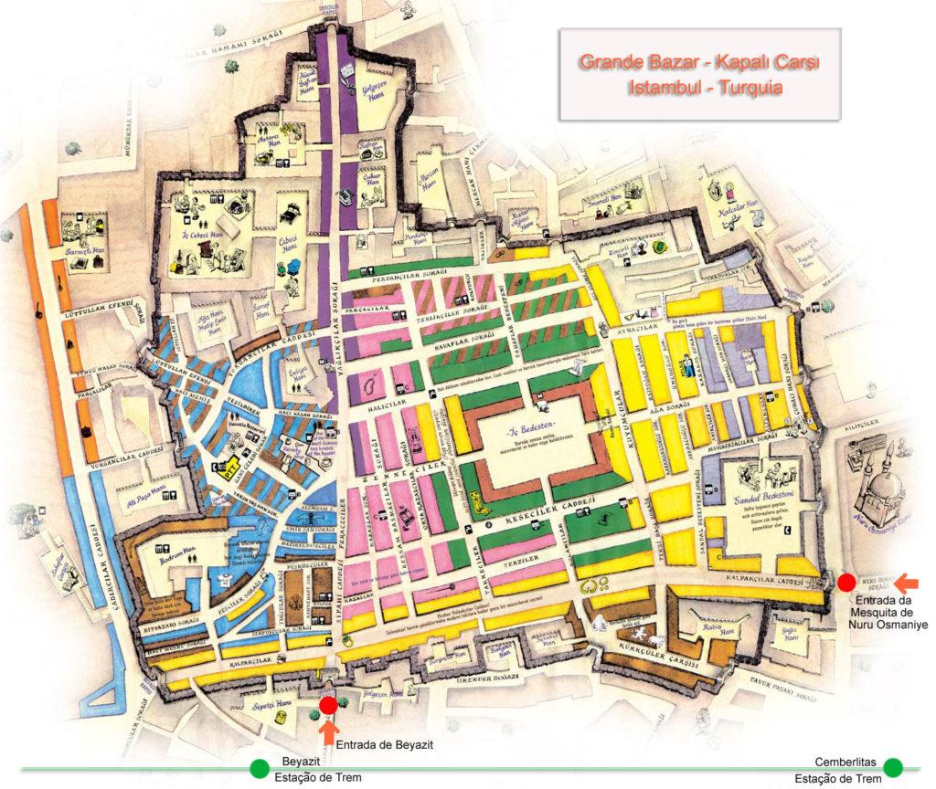 Mapa do Grande Bazar