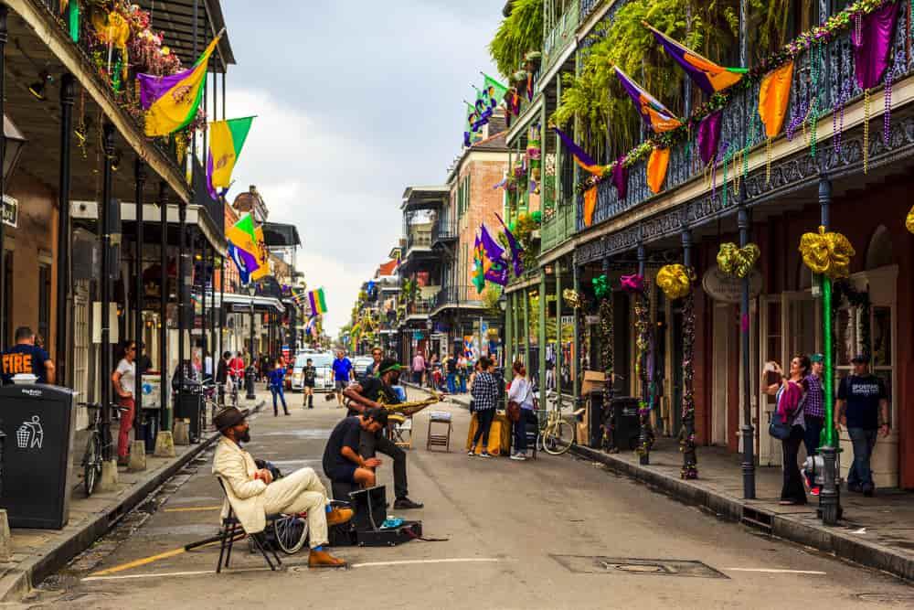 Bairro francês em New Orleans