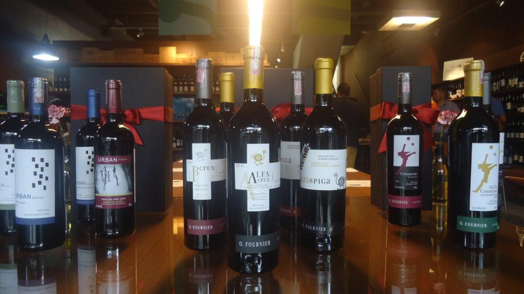 Vinhos da Vinícola O'Fournier