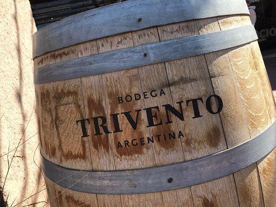 Barril de vinho da Vinícola Trivento