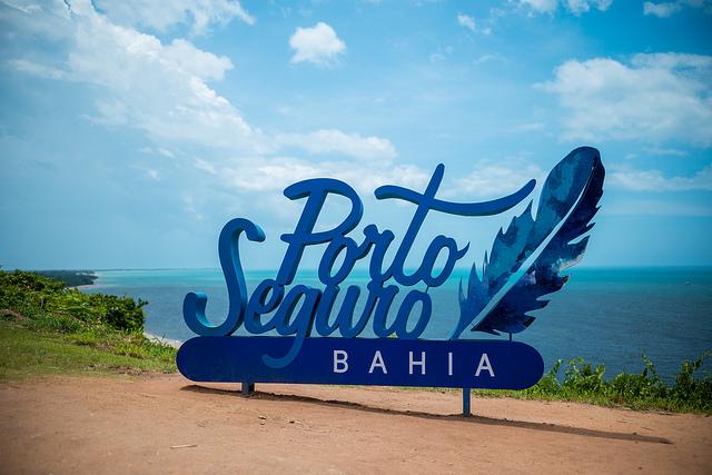 Placa de entrada Porto Seguro