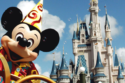 Castelo com o Mickey