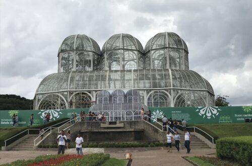 Entrada para o jardim botânico